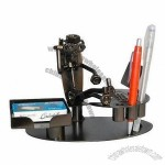 Metal Office Stationery with Pen and Name Card Holder