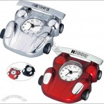 Metal Race Car Shaped Alarm Clock With Arabic Numerals And Second Hand
