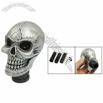 Metal Skull Head Truck Car Gear Shift Knob + 3 Plastic Connectors