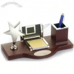 Metal Star Office Desktop Gift Set with Pen Holder, Notes, Calendar
