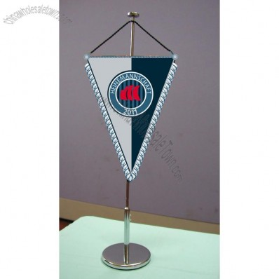 Metal Table Banner, Desk Flag