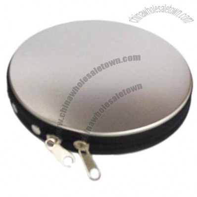 Metal Tin Zipper Case for CD/DVD
