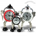 Metal Transformer Robot tyre Shaped Table Alarm Clock