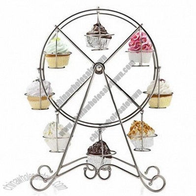 Metal and High-quality Ferris Wheel Shape Cake Stand