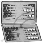 Metal magnetic backgammon executive desk travel game set