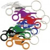 Metal motorcycle shaped bottle opener key chain