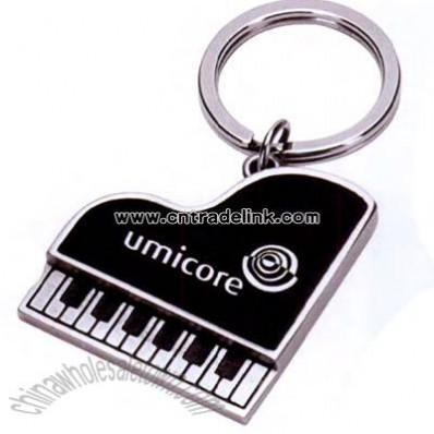 Metal piano shape key chain