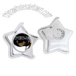 Metal star shape analog clock