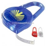 Metal tape measure with carabiner clip