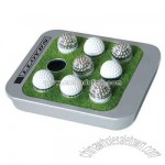 Metal travel executive golf tic tac toe with carry on