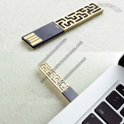 Metallic Brass USB Flash Drive