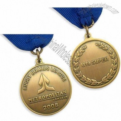 Metropolitan Medals with Antique Gold Medal and Blue Ribbon