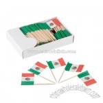 Mexican Flag Picks 1 pack of 144