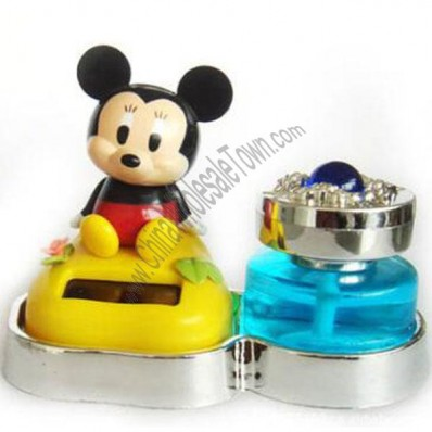 Mickey Mouse Swing Shaking Solar Powered Toy for Car