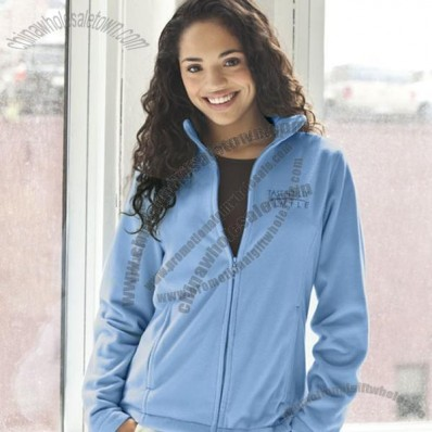 Microfiber Full Zip Custom Jackets for Women's