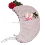 Microfiber Hair Towel with Elastic Loops and Button