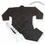 Middleweight 7.5 oz Traditional Karate Uniform - Black