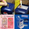 Milk Box Fridge Pen Holder and Coin Bank