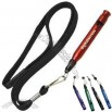Mini Aluminum Whistle Pen With Breakaway Neck Cord