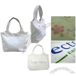 Mini Canvas Lunch Bags with Wavy Shape Top Side