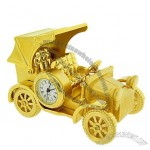 Mini Clock Vintage Model T Gold Carriage Car