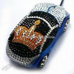 Mini Crystal Car Optical Mouse