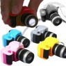 Mini Digital Single Lens Reflex DSLR Camera Style LED Flash Light Torch Shutter Sound Keychain