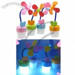 Mini Flower Style Laptop Desk USB Cooling Fan