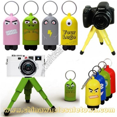 Mini Folding Camera Tripod Keyring - Portable Camera Bracket Keychain