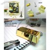 Mini Gold Bar Bullion Paper Weight Magnetic Holder