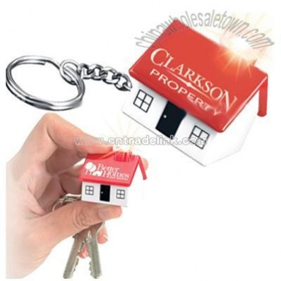 Mini House Shaped Key Light Keychain