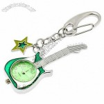 Mini Key Ring Guitar Quartz Watch Clock- Green