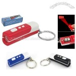 Mini LCD Projection Clock Keychain Key Ring