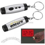 Mini LCD Projection Clock Keychain