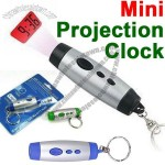 Mini LED Light Times Digital Projection Clock Keychain