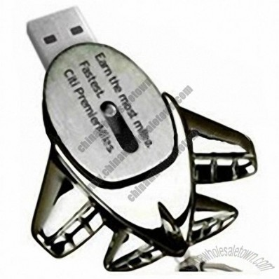 Mini Metal AirPlane Slide USB Flash Drive