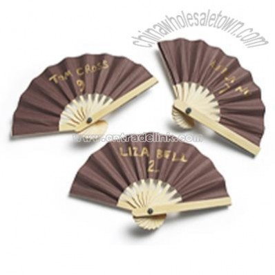 Mini Paper Fan Place Cards - Chocolate