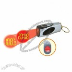 Mini Projection Clock Keychain
