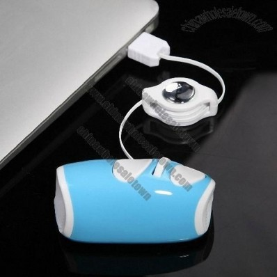 Mini Retractable USB Wired Mouse