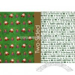 Mini Santas Reversible Wrapping Paper