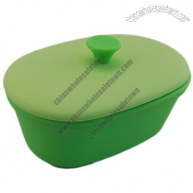 Mini Size Silicone Steamer, Silicone Cooker, Healthy Food Container with Lid