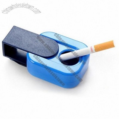 Mini Slide Cover Ashtray With Clip