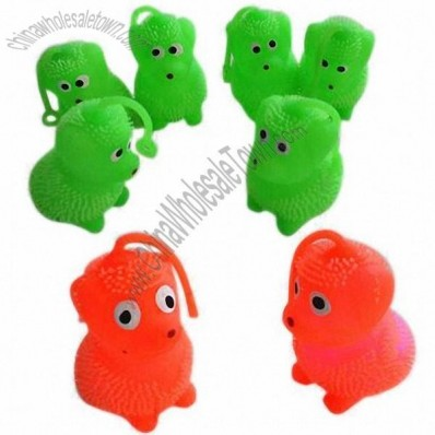 Mini Soft TPR Puffer Animals with LED