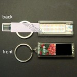 Mini Solar LCD Logo Lighting Foldable Gift USB Flash Drive