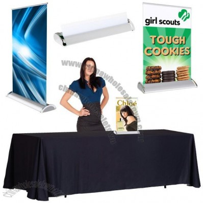 Mini Table Top Retractable Banner Stand