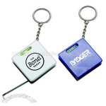 Mini Tape Measure With Level Key Ring