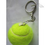Mini Tennis Ball Keychain