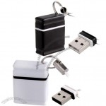 Mini USB Flash Disk - White/Black
