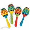 Mini Wooden Painted Maracas