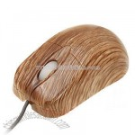 Mini Wooden look USB Optical Mouse